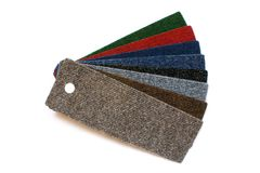 Samples of collection carpet Stock Photos