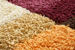 Samples of collection carpet Stock Photography