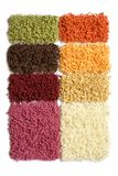 Samples of collection carpet Royalty Free Stock Images