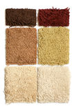 Samples of collection carpet Royalty Free Stock Image