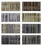 Samples of collection carpet. On a white background Stock Photo