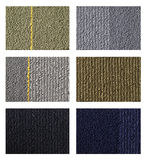 Samples of collection carpet on a white Stock Photography