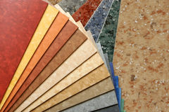 The samples of collection linoleum Stock Photos
