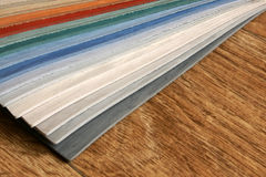 The samples of collection linoleum Stock Images
