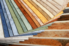 The samples of collection linoleum Stock Photography
