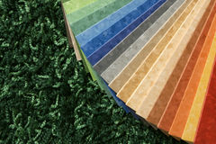 The samples of collection multicolored linoleum Royalty Free Stock Photo