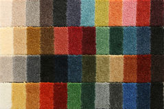 Samples of color of a carpet covering. Closeup Royalty Free Stock Photo