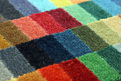 Samples of color of a carpet covering Royalty Free Stock Photography