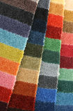 Samples of color of a carpet covering Royalty Free Stock Photo