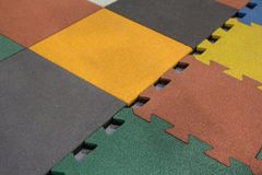 Samples of a color floor rubber covering royalty free stock image