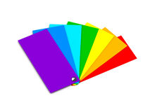 Samples of color (rainbow) Royalty Free Stock Photos