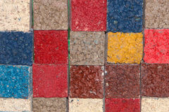 Samples of colored asphalt stock photography
