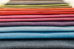 Samples of colored cloth Stock Photos