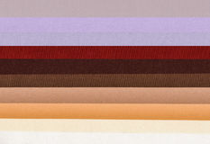 Samples of colored polyester fabric, texture background Royalty Free Stock Photo