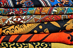 Samples of colorful carpet fabric Stock Photography