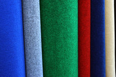 Samples of colorful carpets Stock Image