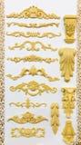 Samples of column decoration Stock Photos