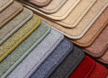 Samples of coverings of a carpet Royalty Free Stock Photos