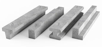 Samples of different concrete reinforced beams Royalty Free Stock Photo