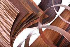 Samples of different sorts of veneer. Or skillet Royalty Free Stock Photography