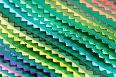 Samples of a fabric. Color samples of a fabric Royalty Free Stock Images