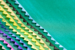Samples of a fabric. Color samples of a fabric Stock Photo