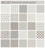 Samples geometric vector patterns Stock Photography