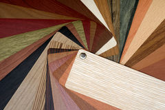Samples of laminate floor boards royalty free stock images