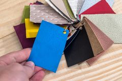 Samples of leather for design royalty free stock image