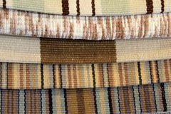 Samples of material for upholstering Royalty Free Stock Photo
