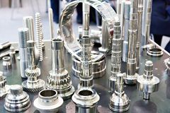 Samples of metal working. Parts.stainless steel stock image