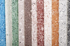 Samples of mosaic paint close-up color background Royalty Free Stock Image