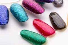 Samples of nail varnishes Royalty Free Stock Image