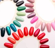 Samples of nail varnishes Stock Images