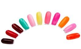 Samples of nail varnishes Stock Photos