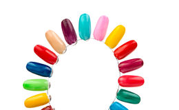 Samples of nail varnishes Royalty Free Stock Images