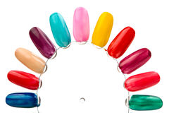 Samples of nail varnishes Royalty Free Stock Photography