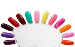 Samples of nail varnishes Royalty Free Stock Photo