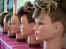 Free Samples Of Hairdresses On Dummies In A Hairdressin Stock Photography - 11314982