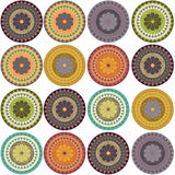 Samples of ornaments. Circle with oriental motif Stock Photo