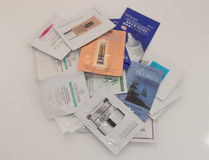Samples of personal care. Cosmetic Royalty Free Stock Photography
