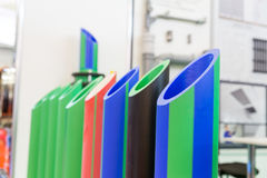 Samples of plastic pipes. For heating and water supply Royalty Free Stock Photo