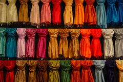 Samples of silk Stock Images