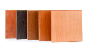 Samples of  stained wood Royalty Free Stock Photography