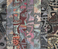 Samples of textiles. Royalty Free Stock Photography