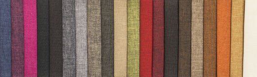 Samples of textiles Royalty Free Stock Images