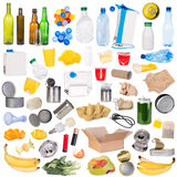 Samples of trash isolated on white background stock image