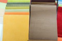 samples upholstery Royaltyfri Fotografi