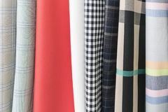 Fabric samples located in waves royalty free stock images