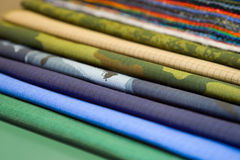 Samples of various fabrics Stock Photography